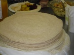 Injera bread on plate