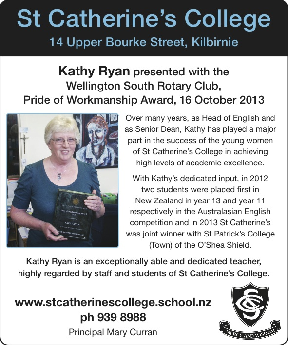 Kathy Ryan Rotary Award in Welcom.25Oct13
